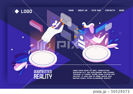 Augmented reality landing page concept.  50529373