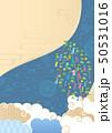 和柄 七夕 笹飾りのイラスト 50531016
