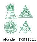 Freemason symbols vector collection. All-seeing 50533111