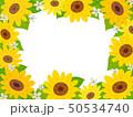ヒマワリ 花 コピースペースのイラスト 50534740