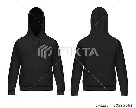 Isolated 3d men hoody or realistic man hoodie 50535662