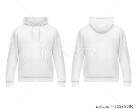 Realistic white hoodie or hoody for man,sweatshirt 50535680