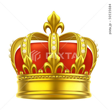 Heraldic crown icon. King, queen, game headdress 50535684