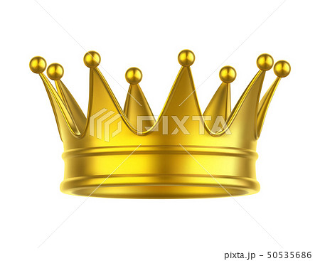 Icon of queen or king, princess or prince crown 50535686