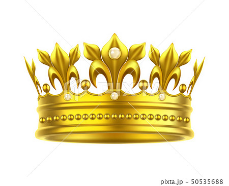 Realistic or 3d golden crown for king or queen 50535688
