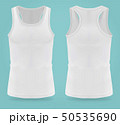 Isolated realistic white t-shirts for women sport 50535690