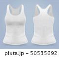 Front and back of woman sport t-shirt, sportswear 50535692