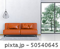 Interior living room and park landscape. 50540645