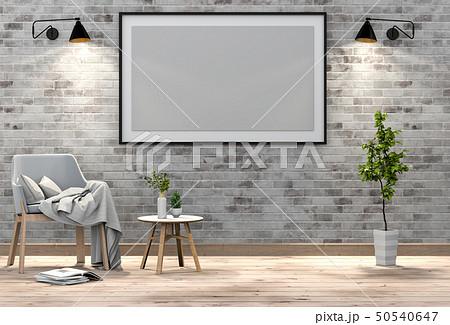 mock up poster frame in interior living room 50540647