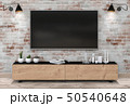 3D rendering of interior living room with Smart TV 50540648