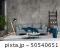 interior living room wall concrete with sofa 50540651