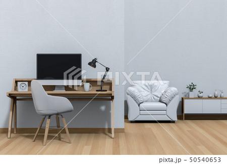 working area with desktop  50540653