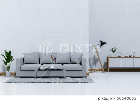 interior living room wall concrete with sofa 50540655