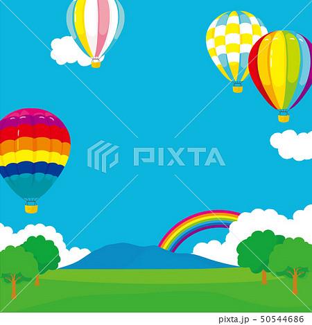気球と広場の風景 背景イラスト 50544686