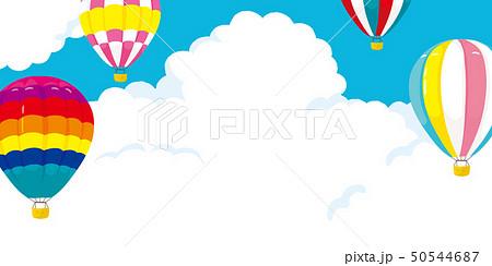 気球と青空 背景イラスト 50544687