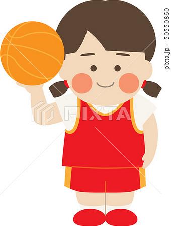 女性キャラクターバスケットボール 50550860