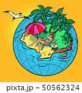 ビーチ 浜辺 リゾートのイラスト 50562324