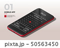Realistic High Detailed Red Smartphone, Mobile Phone Isometric Vector Illustration. 50563450