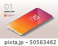 Modern Mobile Cell Phone with Coloful Screen. Template for Mobile Apps. 50563462