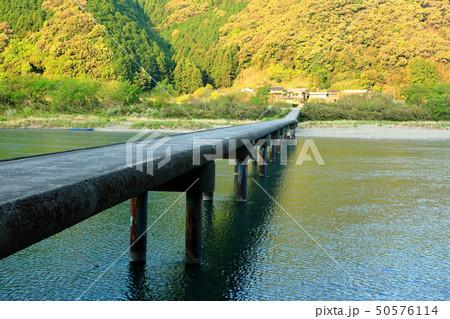 四万十川 勝間沈下橋 日本三大清流 日本の風景 高知県  50576114