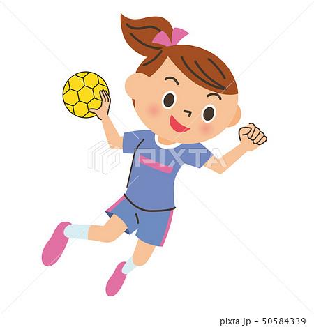 ハンドボールをする子供 50584339