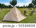 【キャンプ】ワンポールテント アウトドアイメージ 50589608