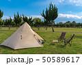 【キャンプ】ワンポールテント アウトドアイメージ 50589617