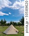 【キャンプ】ワンポールテント アウトドアイメージ 50589620