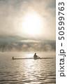 朝霧に輝くボート部 50599763