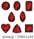 宝石 赤色 ベクターのイラスト 50601144