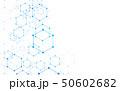 背景 六角形 青のイラスト 50602682