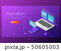 Isometric web banner two steps verification system 50605003