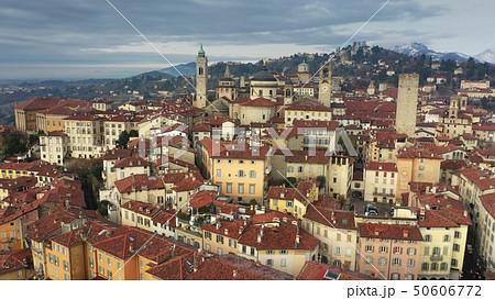 Aerial shot of historic part of Bergamo. Italy 50606772