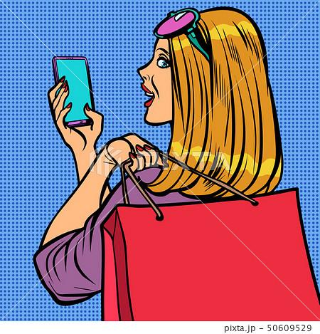 woman buyer online sale 50609529