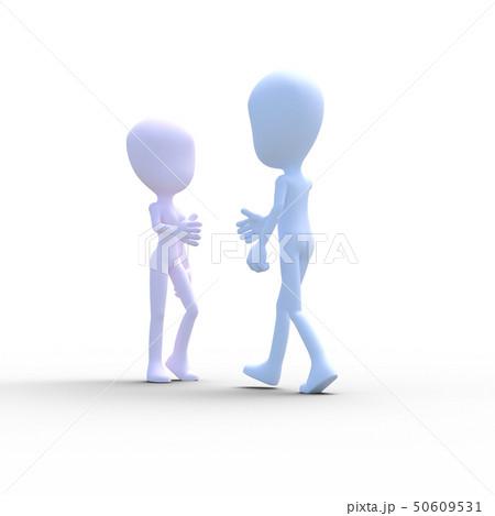 握手をする男女 perming3DCG イラスト素材 50609531