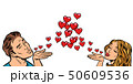 love couple kiss heart 50609536