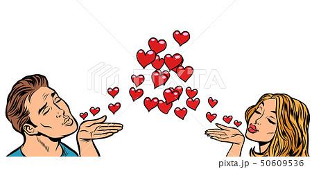 love couple kiss heart 50609536
