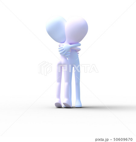 抱き合う男女 perming3DCGイラスト素材 50609670