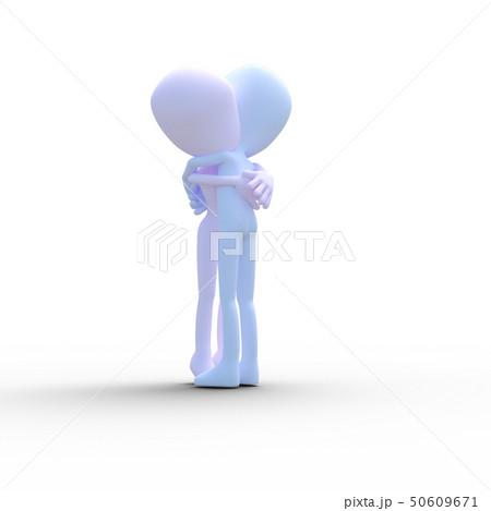 抱き合う男女 perming3DCGイラスト素材 50609671