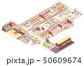 Vector isometric school building cross-section 50609674
