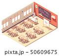 Vector isometric school mathematics classroom 50609675