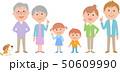 六人家族 正面 横並び 50609990