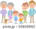 六人家族 正面 集合 50609992