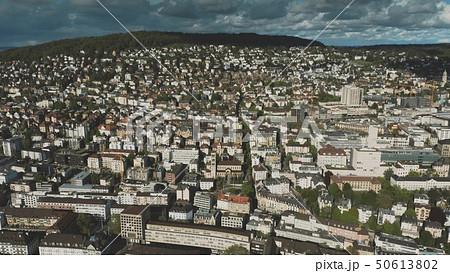 Aerial view of residential area in Zurich, Switzerland 50613802