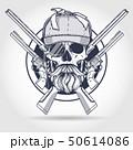 Hand drawn hunter skull 50614086