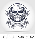 Skull with Ukrainian symbols 50614102