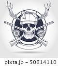 Hand drawn hunter skull 50614110