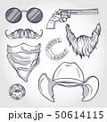 Hand drawn sketch, attributes of sheriff 50614115
