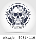 Skull with Ukrainian symbols 50614119