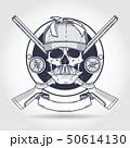 Hand drawn hunter skull 50614130